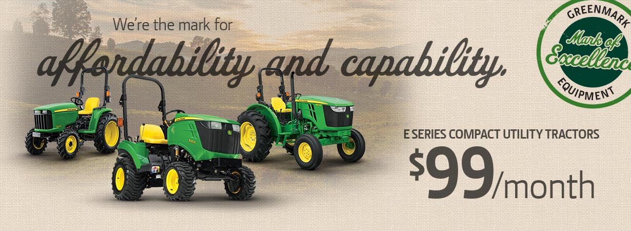 E Series Tractors - Big Savings